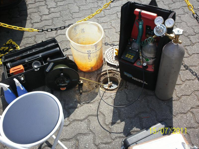 Amostragem de água subterrânea